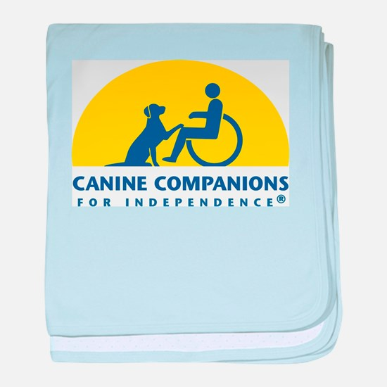 Color Canine Companions Logo baby blanket