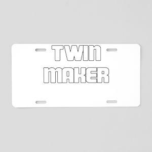 TWIN MAKER WHITE Aluminum License Plate