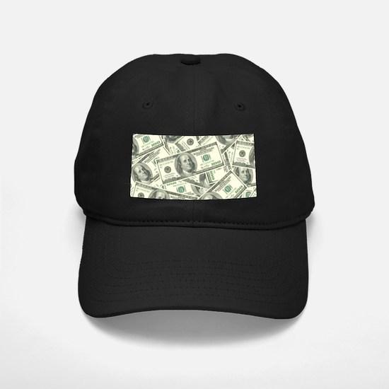 100 Dollar Bill Money Pattern Baseball Hat