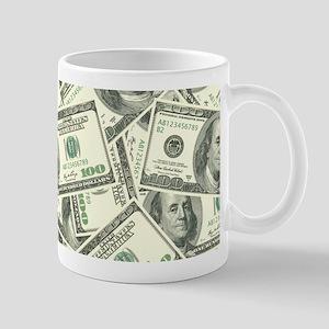 100 Dollar Bill Money Pattern Mug