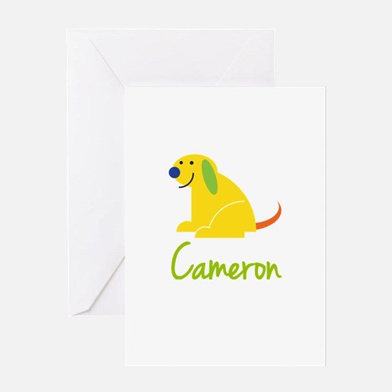 Cameron Loves Puppies Greeting Card