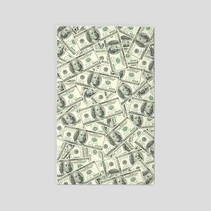 100 Dollar Bill Money Pattern 3'x5' Area Rug