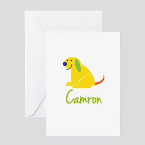 Camron Loves Puppies Greeting Card