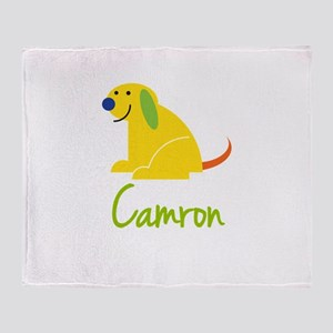 Camron Loves Puppies Throw Blanket