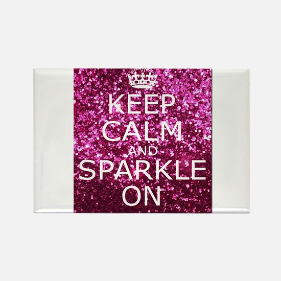 Keep Calm and Sparkle On Rectangle Magnet