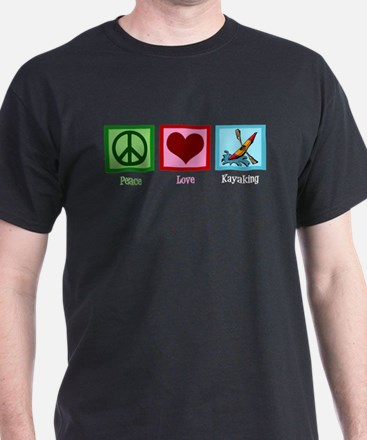 Peace Love Kayaking T-Shirt