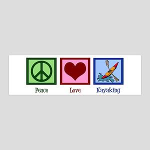 Peace Love Kayaking 20x6 Wall Decal