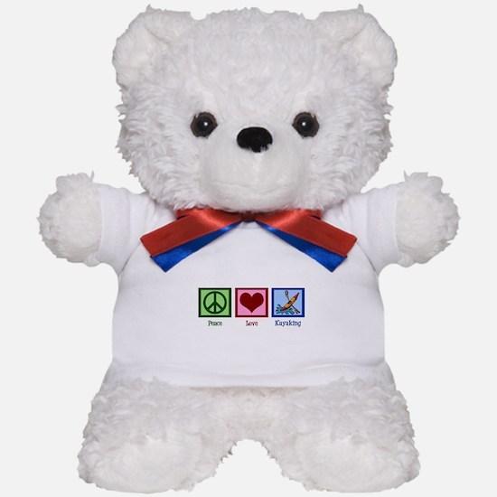 Peace Love Kayaking Teddy Bear