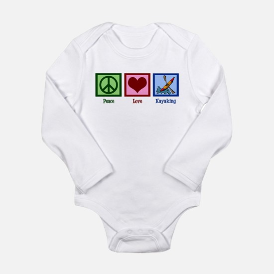 Peace Love Kayaking Long Sleeve Infant Bodysuit