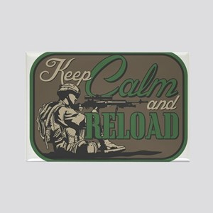 Keep Calm and Reload Rectangle Magnet