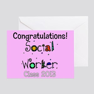 social worker grad congrats cards Greeting Card
