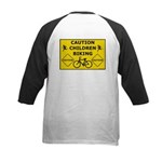 Caution Children Biking Baseball Jersey