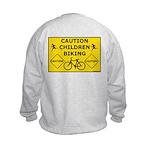 Caution Children Biking Sweatshirt