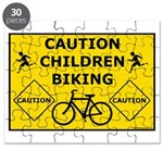 Caution Children Biking Puzzle