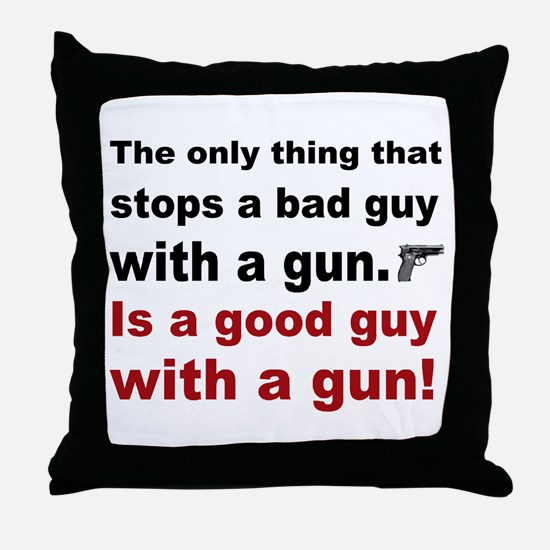 Good Guy with a gun Throw Pillow