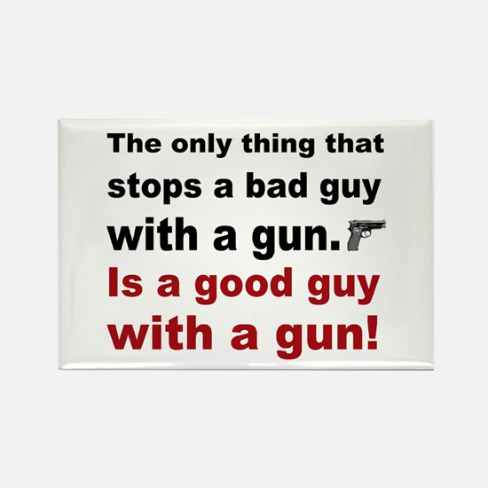Good Guy with a gun Rectangle Magnet