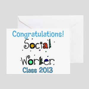 social worker grad congrats Greeting Card