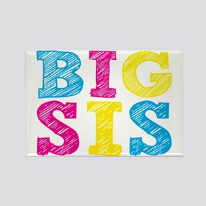 "Colorful ""Big Sis"" Rectangle Magnet"