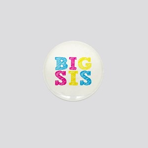 "Colorful ""Big Sis"" Mini Button"