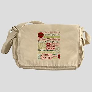 Christmas Subway Art Messenger Bag