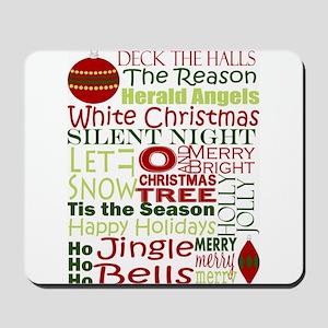Christmas Subway Art Mousepad