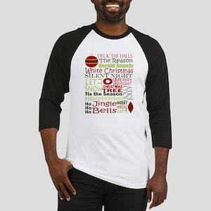 Christmas Subway Art Baseball Jersey