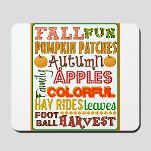 Autumn Subway art Mousepad