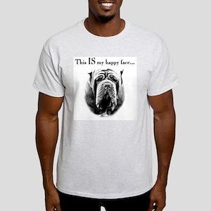 Neo Happy Face Ash Grey T-Shirt