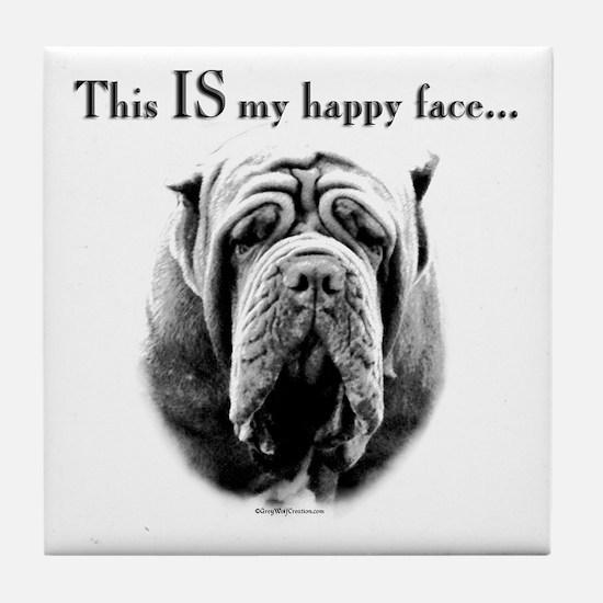 Neo Happy Face Tile Coaster