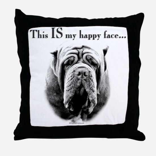 Neo Happy Face Throw Pillow