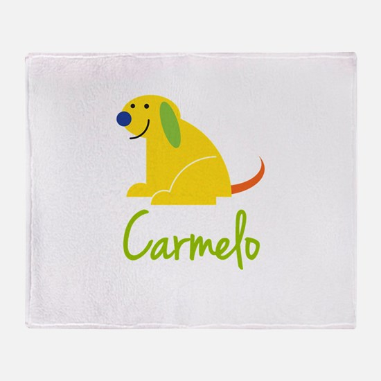 Carmelo Loves Puppies Throw Blanket