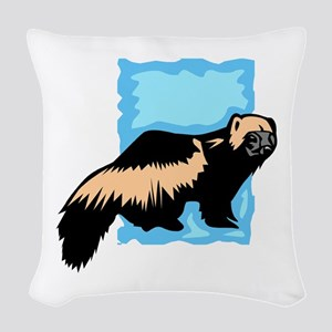 Wolverine Woven Throw Pillow