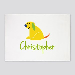 Christopher Loves Puppies 5'x7'Area Rug