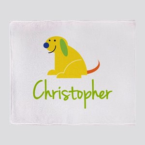 Christopher Loves Puppies Throw Blanket