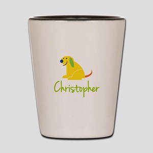 Christopher Loves Puppies Shot Glass