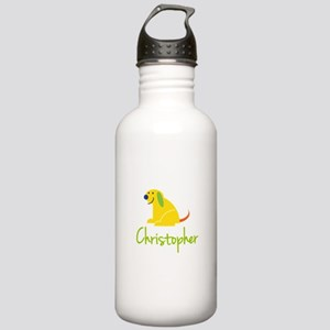 Christopher Loves Puppies Water Bottle