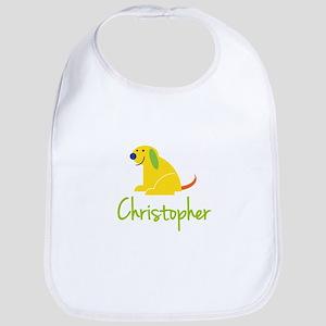 Christopher Loves Puppies Bib
