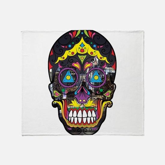 Festive Skull Throw Blanket