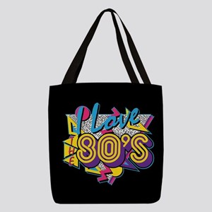 I Love The 80s Polyester Tote Bag