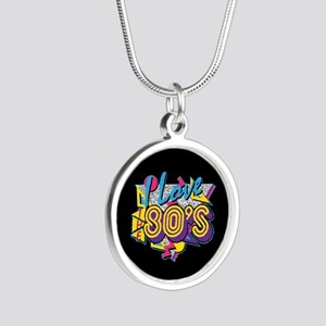 I Love The 80s Silver Round Necklace