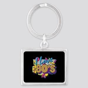 I Love The 80s Landscape Keychain