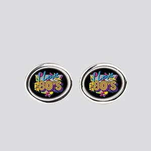 I Love The 80s Oval Cufflinks