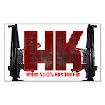 HK- When $#^% Hits The Fan Sticker
