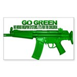 Go Green. No Wood Stocks! Sticker