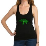 Go Green. No Wood Stocks! Racerback Tank Top
