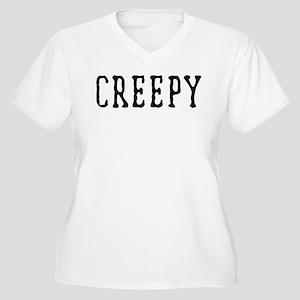 Halloween Creepy Women's Plus Size V-Neck T-Shirt