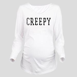 Halloween Creepy Long Sleeve Maternity T-Shirt