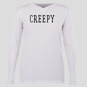 Halloween Creepy Plus Size Long Sleeve Tee