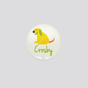 Crosby Loves Puppies Mini Button