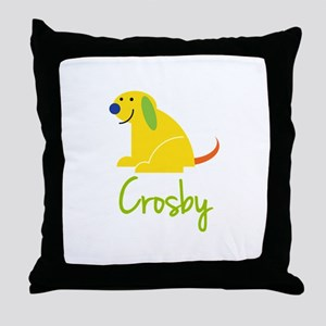 Crosby Loves Puppies Throw Pillow